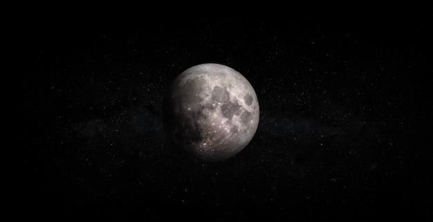 Lua cheia isolada no fundo do espaço. elementos desta imagem fornecidos pela nasa.