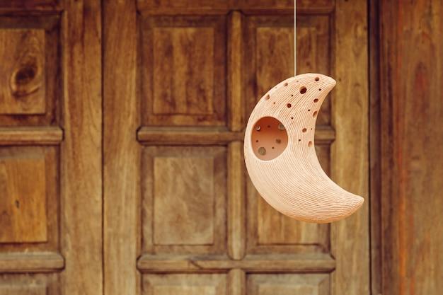 Lua e estrela terracota decorar pote