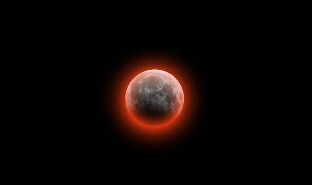 Lua sangrenta no céu negro