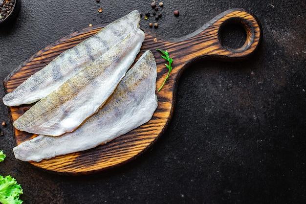 Lúcio percas peixes crus frutos do mar frescos alimentos produtos orgânicos refeição lanche cópia espaço alimentos fundo