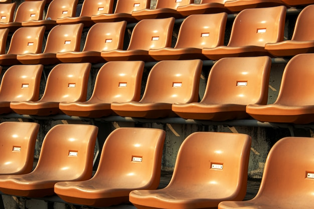 Lugar vazio no estádio para o fã-clube de esporte