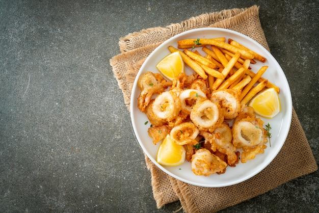Lula - lula frita ou polvo com batata frita