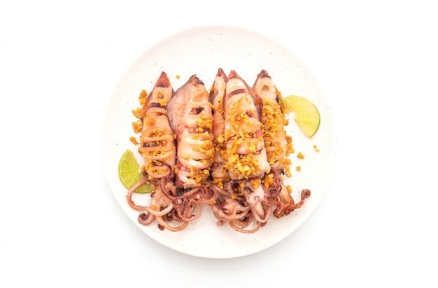 Lulas fritas com alho