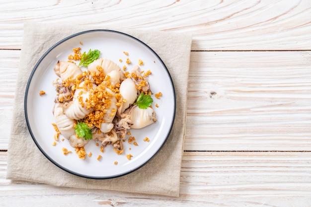 Lulas fritas ou polvo com alho