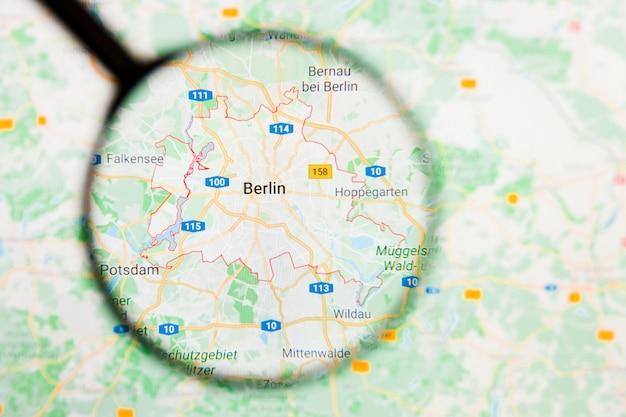 Lupa no mapa da alemanha