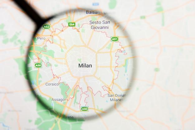 Lupa no mapa da itália
