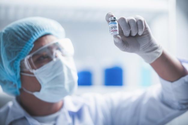 Luta contra covid-19, pesquisa de vacina contra coronavírus em laboratório de hospital
