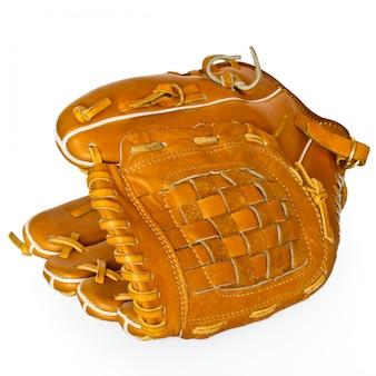 Luva de beisebol coletor isolada no branco