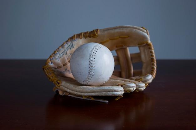 Luva de beisebol vintage