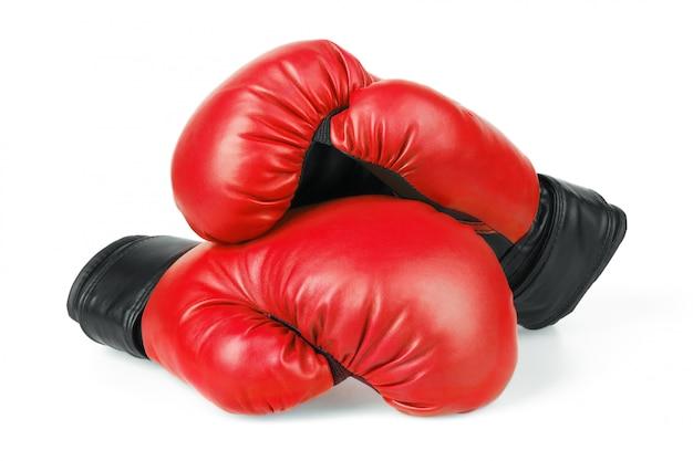 Luvas de boxe vermelhas