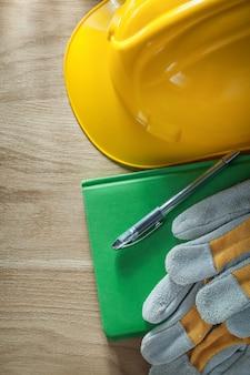 Luvas de segurança de caneta para cadernos capacete