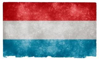Luxemburgo textura bandeira do grunge