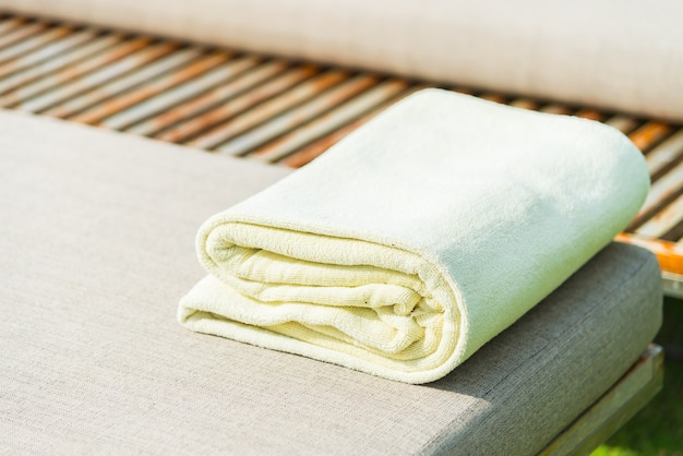 Luxo azul de hotéis spa toalhas