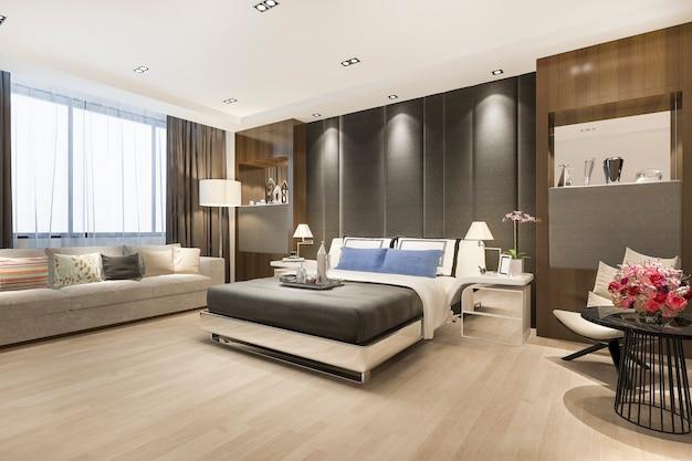 Luxo clássico moderno quarto suite em hotel
