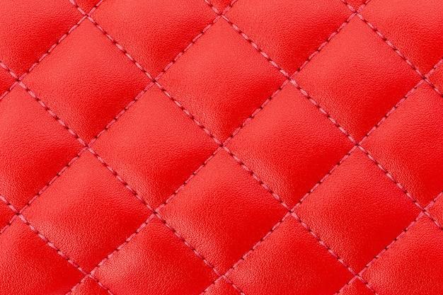 Luxuosa textura de couro vermelho