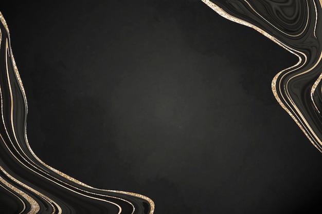 Luxuoso fundo de mármore preto com forro de ouro
