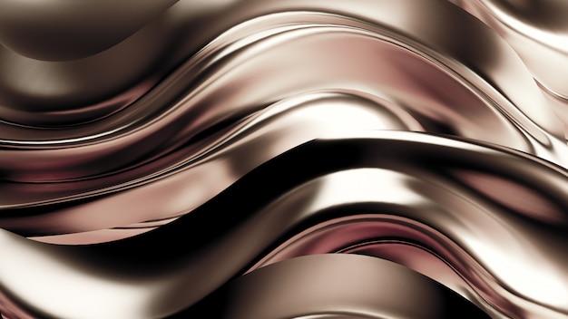 Luxuoso fundo prateado com cortinas de cetim. renderização em 3d.