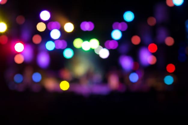 Luz abstrata bokeh desfocado colorido para plano de fundo