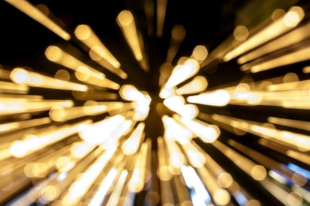 Luz abstrata e bokeh de fundo
