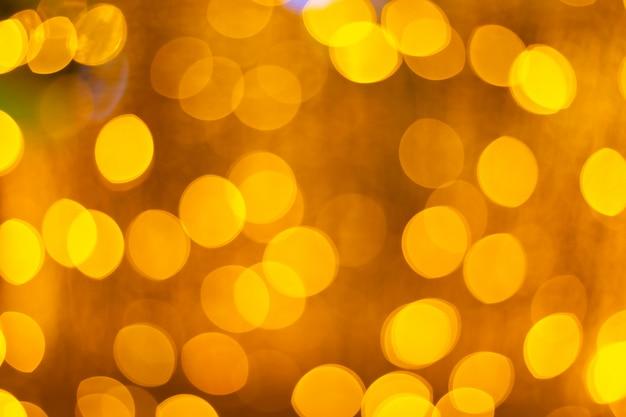 Luz amarela bokeh circular abstrata