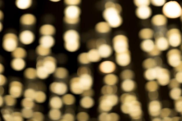 Luz amarela bokeh fundo