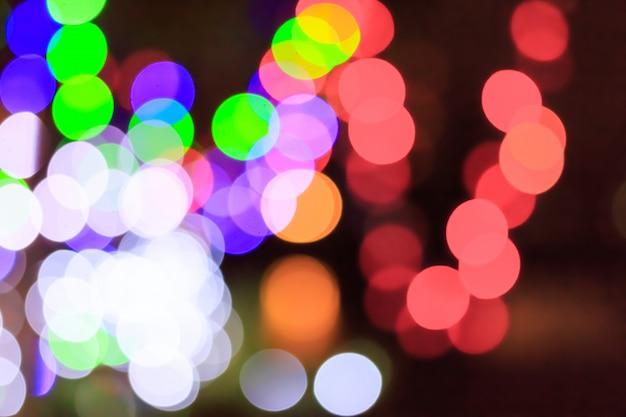 Luz colorida bokeh