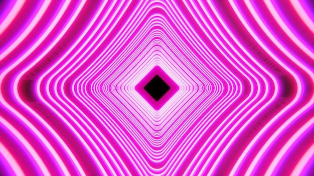 Luz cyberpunk no fundo do palco do túnel para publicidade na cena da arte retro e sci fi dos anos 90