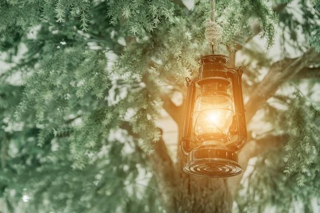 Luz da antiga lâmpada