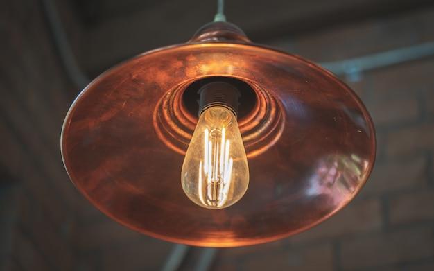 Luz da lâmpada do teto do vintage