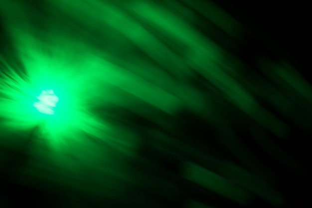 Luz de fibra de efeito de movimento turva verde
