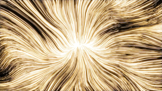 Luz de fundo dourado