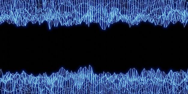 Luz de laser abstrato luz de néon ilustração 3d de fundo