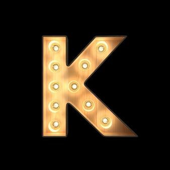 Luz de letreiro alfabeto k