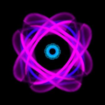 Luz de néon abstrata