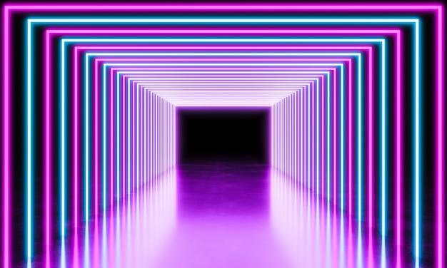 Luz de néon abstrato
