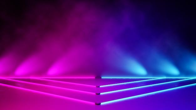 Luz de néon triângulo vazio