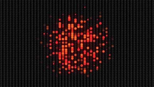 Luz de parede conduzida abstrata popular fundo de onda digital futurista
