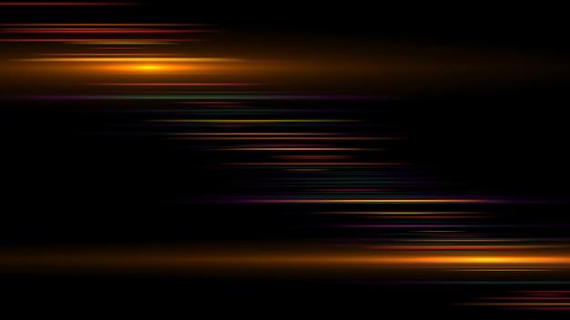 Luz de tira de ouro luminosa