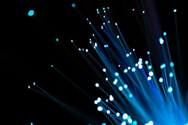 Luz de vidro de fibra abstrato azul