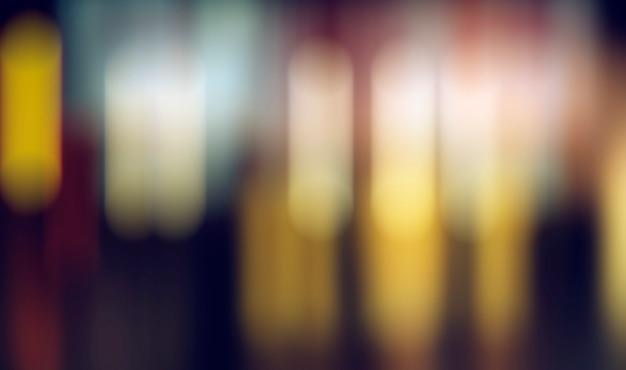 Luz desfocada, abstrato na foto da noite