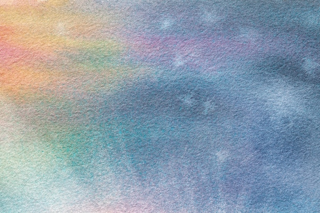 Luz do fundo da arte abstrato - cores azuis e de turquesa. pintura em aquarela sobre tela.