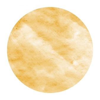 Luz laranja mão desenhada quadro circular em aquarela