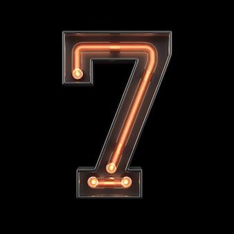Luz néon, numere 7