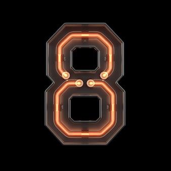 Luz néon número 8