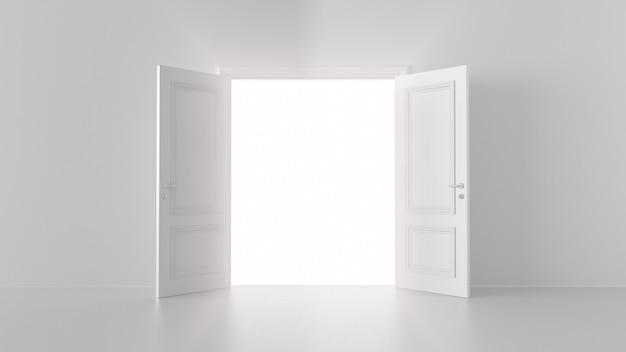 Luz saindo através de uma porta aberta