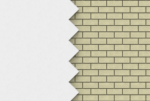 Luz - tijolos marrons e fundo da parede do ziguezague.