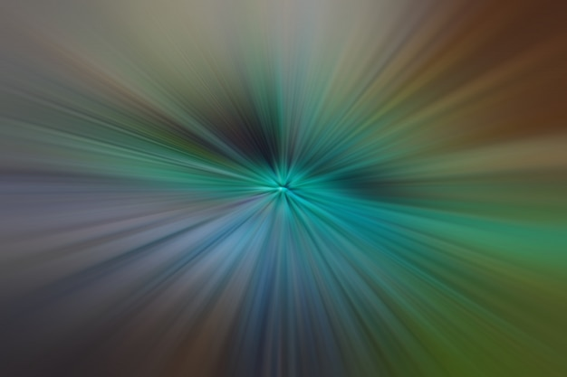 Luz verde e marrom partículas e linhas brilhantes. fundo abstrato bonito raios