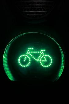 Luz verde para bicicleta