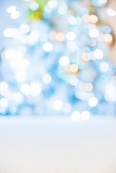 Luzes brilhantes em azul