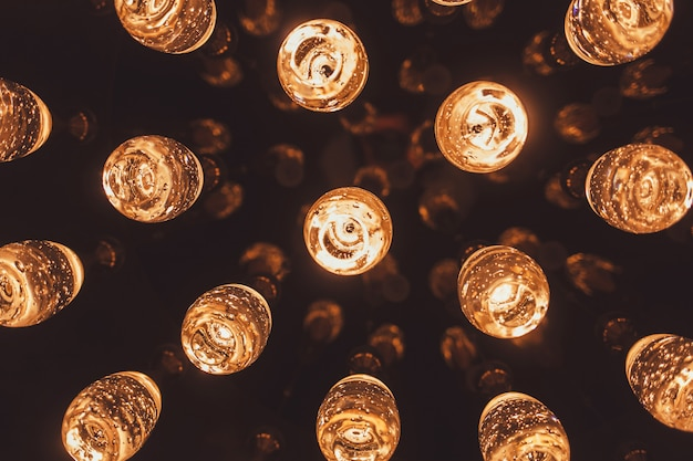 Luzes brilhantes na moda